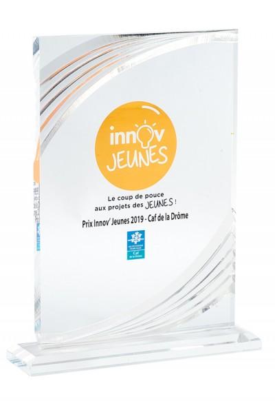 Trophée Acryglass Imprimable 160-61