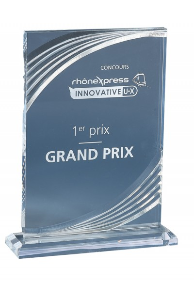 Trophée Acryglass Laserable 180-31