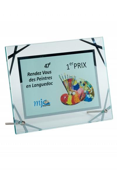 Trophée Verre Imprimable 153-31