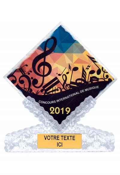 Trophée Verre Imprimable 153-11