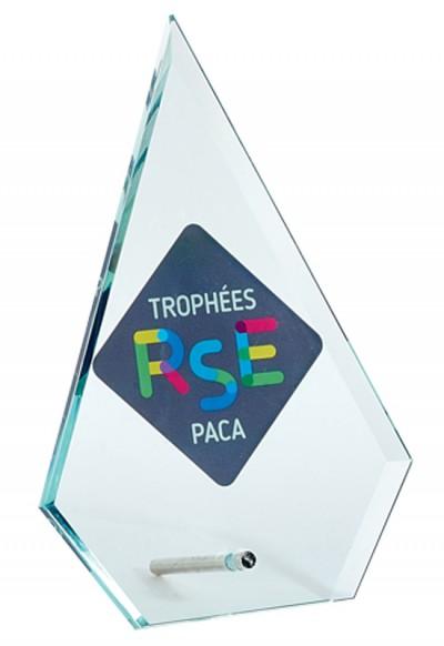 Trophée Verre Imprimable 155-61