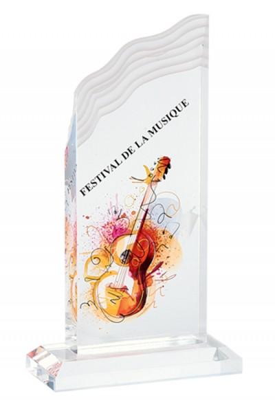 Trophée Verre Imprimable 159-51