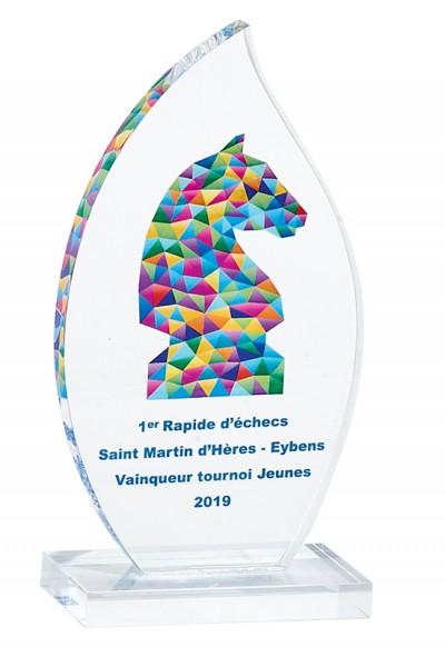 Trophée Verre Imprimable 158-51