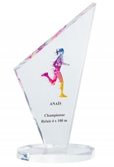 Trophée Verre Imprimable 158-71
